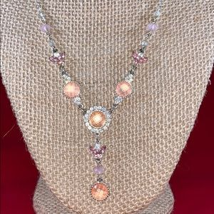 Vintage Avon NR pink Butterfly Necklace